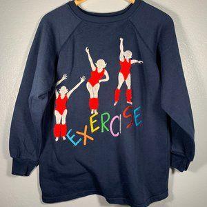 Vintage 3D Exercise Multicolor Women Sweatshirt